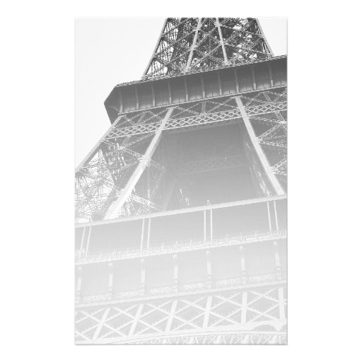 Black and White Eiffel Tower Stationery