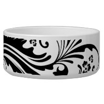 Black and White Elegant Damask Bowl