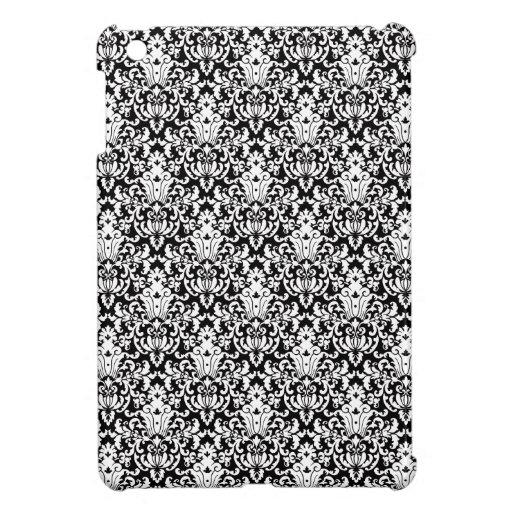 Black and White Elegant Damask iPad Mini Case
