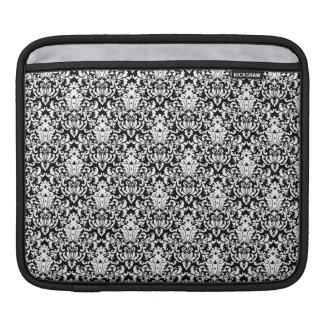Black and White Elegant Damask iPad Sleeve