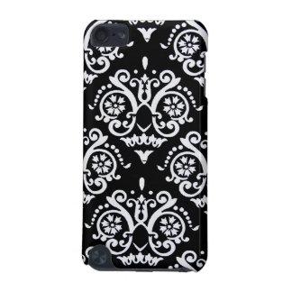 Black and White Elegant Damask iPod Touch 5G Case