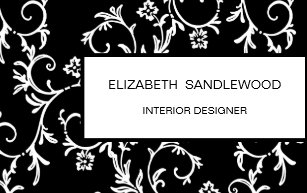 Black And White Elegant Fl Damask Desk Business Card Holder