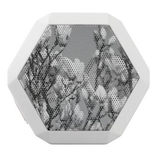 Black and White Elegant Magnolia Tree White Boombot Rex Bluetooth Speaker