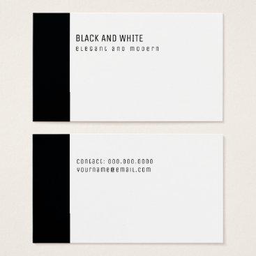 Professional Business black and white elegant & modern minimalist business card