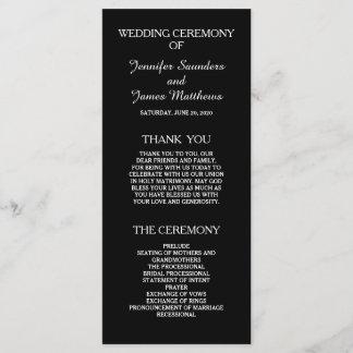 Black and White Elegant Wedding Programs
