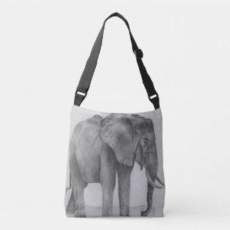 Black and White Elephant Crossbody Bag