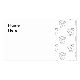 Black and White Elephant Pattern. Business Card Template