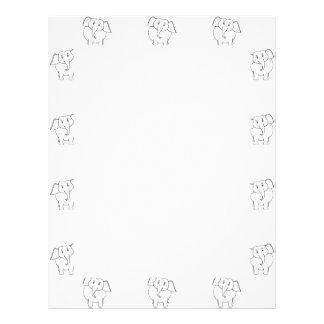 Black and White Elephant Pattern. Letterhead