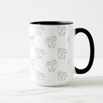 Black and White Elephant Pattern. Mug