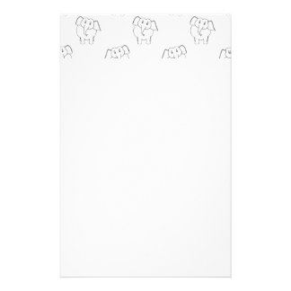 Black and White Elephant Pattern. Stationery