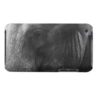 Black and White Elephant portrait iPod Touch Cover