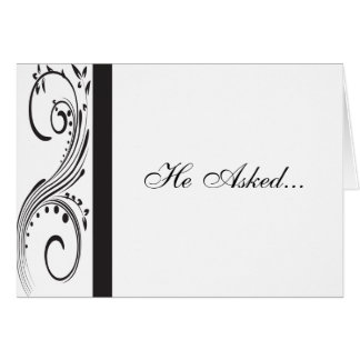 Black and White Engagement Announcement Cards