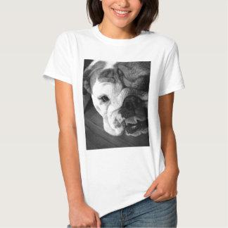 Black and White English Bulldog Puppy T Shirt