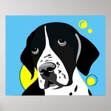 pointer dog art