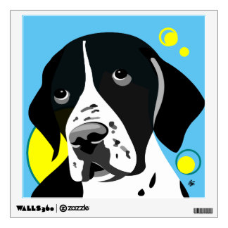 Black and White English Pointer Wall Sticker
