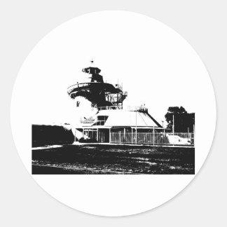 Black and White Entertainment World Classic Round Sticker