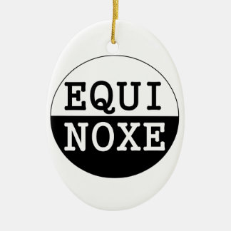 black and white equinox ceramic ornament
