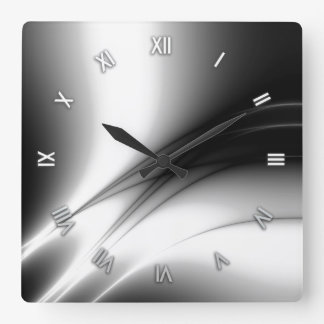 Black and White Estuary Wall Clock