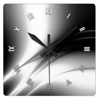 Black and White Estuary Wall Clock