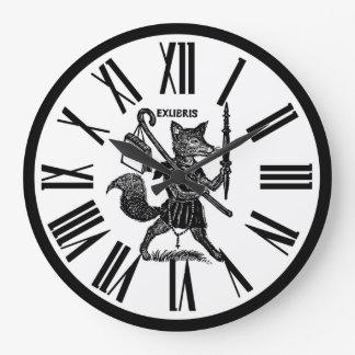 Black and White Ex Libris Clock