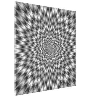 Black and White Eye Bender Canvas Print