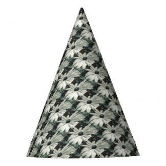 Black and White - Eyed Susan Party Hat