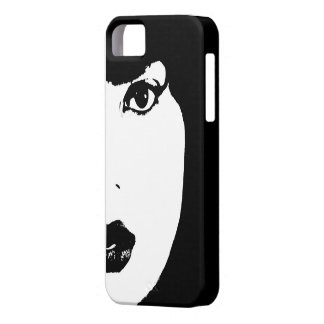 Black and White Face iPhone SE/5/5s Case