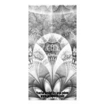 Black and White Fanned Feathers in Halftone Dots Card