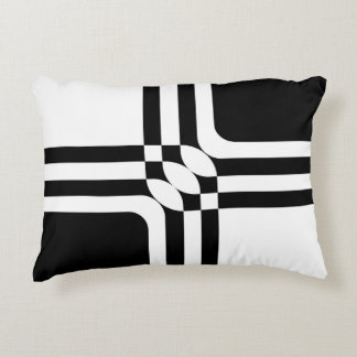 Black and white fantasy accent pillow