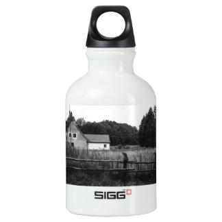 Black and White Farm In A Grassland Landscape SIGG Traveler 0.3L Water Bottle