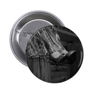 Black and White Fashion Button