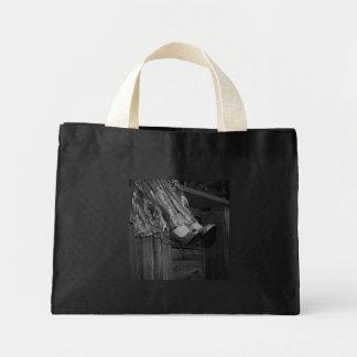 Black and White Fashion Mini Tote Bag