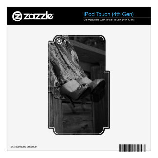 Black and White Fashion Skin For iPod Touch 4G