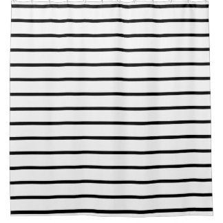 Black and White Fashion Stripes Shower Curtains