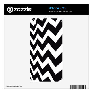 Black and White Fast Lane Stripes Decal For iPhone 4