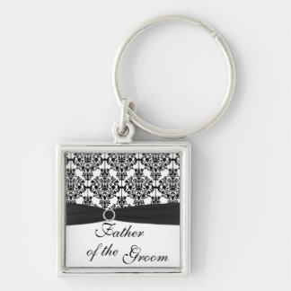 Black and White Father of the Groom Keychain