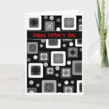 Black and white Father's Day Card - For the dad that loves clean understated design.