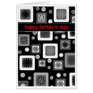 Black and white Father's Day Greeting Card