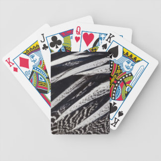 Black And White Feather Abstract Bicycle Playing Cards