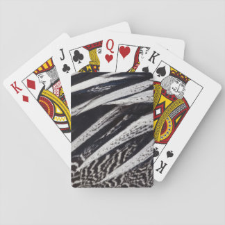 Black And White Feather Abstract Playing Cards