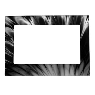 Black and White Feathers Magnetic Picture Frame