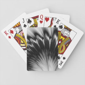 Black and White Feathers Playing Cards