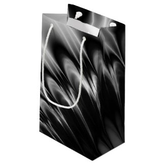 Black and White Feathers Small Gift Bag