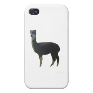 Black And White Female Alpaca Cover For iPhone 4
