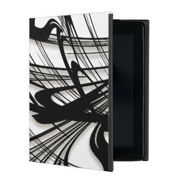 Hawaiian Themed Black and White Fern Glen iPad Cover