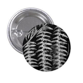 Black and White Fern Nature Button / Badge