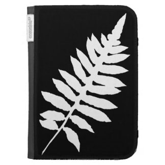 Black and White Fern Silhouette Kindle Cover