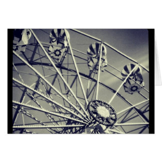 Black and white ferris wheel card