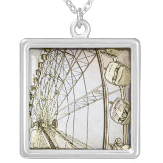 Black and White Ferris Wheel Necklace