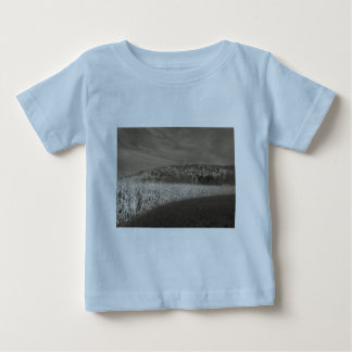 Black and White Fields Of Grain Baby T-Shirt